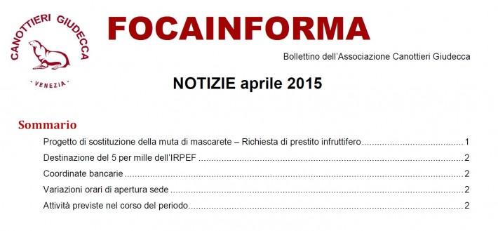 Foca Informa Aprile 2015
