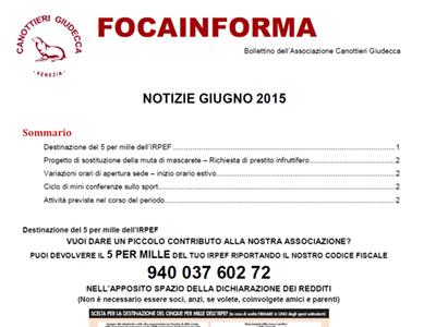 Foca Informa Giugno 2015